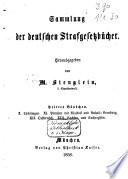Sammlung der Deutschen Strafgesetzbücher