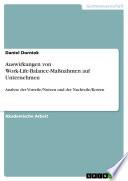 Auswirkungen von Work-Life-Balance-Maßnahmen auf Unternehmen
