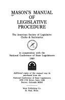 Mason s Manual of Legislative Procedure