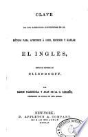 Clave De Los Ejercicios Contenidos En El Metodo Para Aprender A Leer Escribir Y Hablar El Ingles Segun El Sistema De Ollendorff
