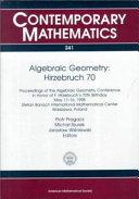 Algebraic Geometry, Hirzebruch 70