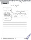 Alexander and the Terrible  Horrible  Reader Response Writing Prompts