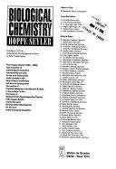Biological Chemistry Hoppe Seyler book