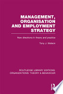 Management Organization and Employment Strategy  RLE  Organizations