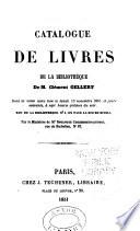 Catalogue de livres de la biblioth  que de M  Cl  ment Gellert