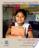 Développement des capacités pour l'éducation pour tous: de la théorie à la pratique – le programme Cap EFA