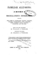 Book Familiar Allusions: a Hand-book of Miscellaneous Information