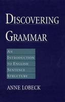 Discovering Grammar