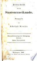 Adolph Henke's Zeitschrift für die Staatsarzneikunde