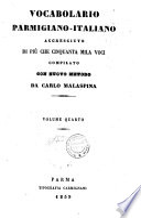 Vocabolario parmigiano italiano