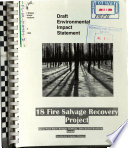 Deschutes National Forest  N F    18 Fire Salvage Recovery Project