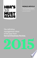 HBR s 10 Must Reads 2015