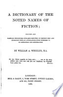 A Dictionary of the Noted Names of Fiction