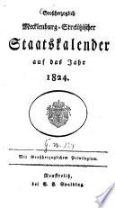 Großherzoglich-Mecklenburg-Strelitzscher Staatskalender