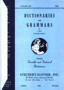 Dictionaries and Grammars in 125 Languages  Including Scientific and Technical Dictionaries