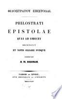 Philostrati Epistolae