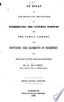 An Essay on the Means and Importance of Introducing the Natural Sciences Into the Family Library