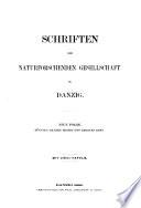 Schriften der Naturforschenden Gesellschaft in Danzig