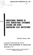Professional Workers in State Agricultural Experiment Stations and Other Cooperating State Institutions