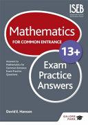 Mathematics for Common Entrance 13  Exam Practice Answers
