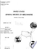 United States General Imports of Merchandise