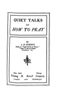 Quiet Talks on how to Pray