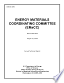 Energy Materials Coordinating Committe (EMaCC): Fiscal Year 2004 Annual Technical Report