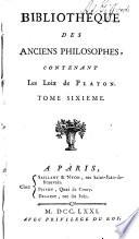 Les oeuvres de Platon: Loix de Platon par Le traducteur de la République