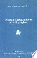 Analyse démographique des biographies Free download PDF and Read online