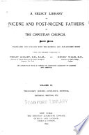 A Select Library of Nicene and Post Nicene Fathers of the Christian Church  Theodoret  Jerome Gennadius  Rufinus  Historical writings  etc  1892