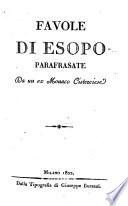 Favole di Esopo  parafrasate da un ex monaco Cisterciese