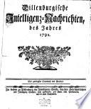 Dillenburgische Intelligenz-Nachrichten, des Jahres ...