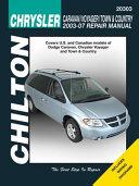 Chilton S Chrysler Caravan Voyager Town Country 2003 07 Repair Manual