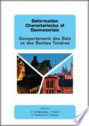 Deformation Characteristics of Geomaterials   Comportement Des Sols Et Des Roches Tendres