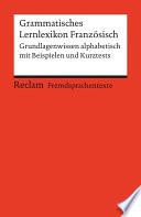 Grammatisches Lernlexikon Franz  sisch