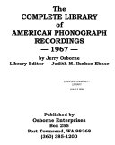 The Complete Library of American Phonograph Recordings