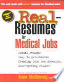 Real Resumes For Medical Jobs