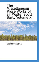 download ebook the miscellaneous prose works of sir walter scott, bart pdf epub