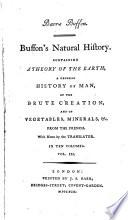 Barr's Buffon. Buffon's Natural History,