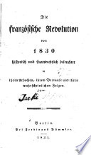 Die franz  sische Revolution von 1830