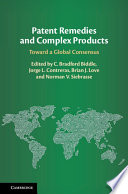Patent Remedies and Complex Products Book PDF