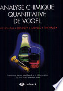 Analyse chimique quantitative de Vogel