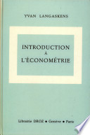 Introduction    l   conom  trie