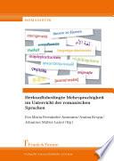 Herkunftsbedingte Mehrsprachigkeit im Unterricht der romanischen Sprachen