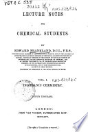 Lecture Notes for Chemical Students