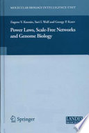 Power Laws Scale Free Networks And Genome Biology book