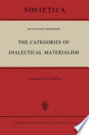 The Categories Of Dialectical Materialism book