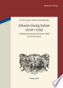 Johann Georg Sulzer (1720-1779)