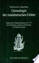 """Bartholomäus Ziegenbalgs """"Genealogie der malabarischen Götter"""""""