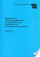 Methoden und Beschreibungssprachen zur Modellierung und Verifikation von Schaltungen und Systemen